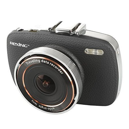 0723980987917 - REXING V6 2.7 FULLSCREEN 1080P HD DASH CAM WITH 170 DEGREE WIDE VIEW, G-SENSOR W/FREE 8GB MICROSD CARD, CRYSTAL CLEAR NIGHT VISION ENABLED DASH CAMERA