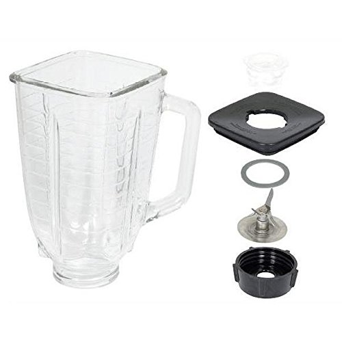 0725638200096 - OSTER 6-PIECE BLENDER REPLACEMENT GLASS KIT, FITS ALL OSTER GLASS BLENDERS