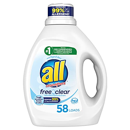0072613739455 - ALL LIQUID LAUNDRY DETERGENT, FREE CLEAR FOR SENSITIVE SKIN, 58 LOADS, 88 FLUID OUNCE