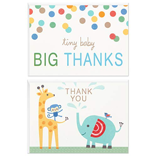 0726528404747 - HALLMARK BABY SHOWER THANK YOU CARDS ASSORTMENT, ZOO ANIMALS (50 CARDS WITH ENVELOPES FOR BABY BOY OR BABY GIRL) ELEPHANT, GIRAFFE, MONKEY