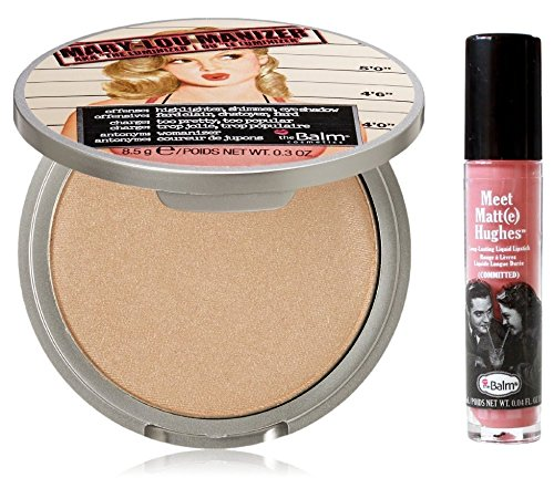 0728795549015 - THE BALM MARY-LOU MANIZER AKA THE LUMINIZER SHIMMER, HIGHLIGHTER AND EYESHADOW W/MINI MEET MATTE HUGHES LIP COLOR, COMMITTED