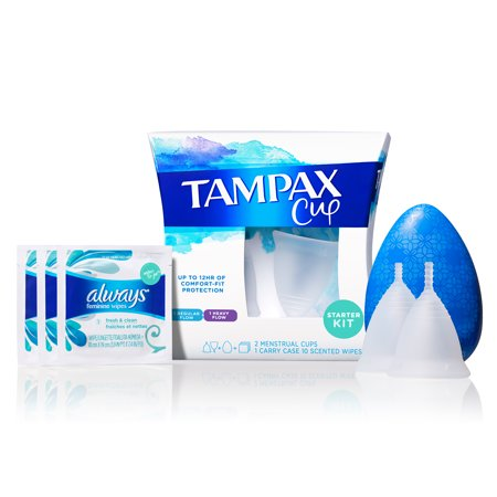 0073010712508 - TAMPAX MENSTRUAL CUP STARTER KIT, UP TO 12 HRS COMFORT-FIT PROTECTION