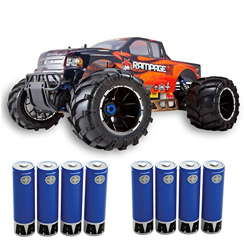 0730750980023 - REDCAT RAMPAGE MT V3 GAS TRUCK (1/5 SCALE), ORANGE/FLAME, (INCLUDES AA BATTERIES FOR THE RADIO)
