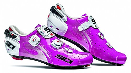 0732130192491 - 2015 SIDI WIRE CARBON ROAD CYCLING SHOES FUXIA (42.5)