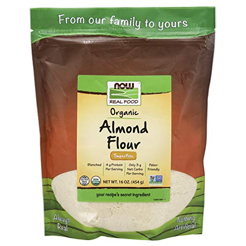 0733739060075 - NOW NATURAL FOODS, ORGANIC ALMOND FLOUR, SUPERFINE, BLANCHED, CERTIFIED NON-GMO, 16 OZ