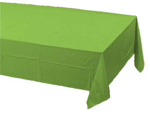 0073525819341 - CREATIVE CONVERTING TOUCH OF COLOR PLASTIC LINED TABLE COVER, 54 BY 108-INCH, FRESH LIME