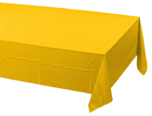 0073525819518 - CREATIVE CONVERTING TOUCH OF COLOR PLASTIC LINED TABLE COVER, 54 BY 108-INCH, SCHOOL BUS YELLOW