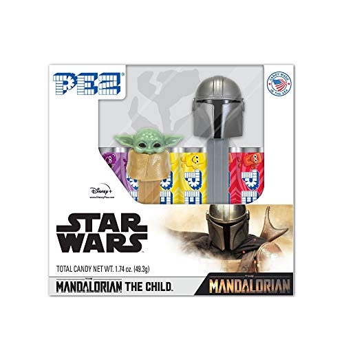 0073621012271 - PEZ CANDY THE MANDALORIAN & THE CHILD (BABY YODA) GIFT SET INCLUDES 6 PEZ CANDY ROLLS