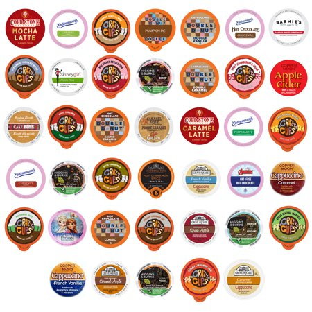 0736842355038 - COFFEE, TEA, AND HOT CHOCOLATE VARIETY SAMPLER PACK FOR KEURIG K-CUP BREWERS, 40 COUNT