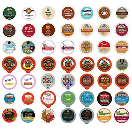 0736842355045 - COFFEE, TEA, AND HOT CHOCOLATE HOLIDAY VARIETY SAMPLER PACK FOR KEURIG K-CUP BREWERS, 50 COUNT
