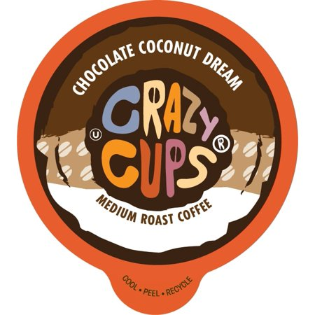 0736842355328 - CRAZY CUPS CHOCOLATE COCONUT DREAM FLAVORED COFFEE SINGLE SERVE CUPS FOR KEURIG K-CUP BREWER, 22 K-CUPS