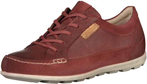 7374294127310 - ECCO 239543 WOMENS RED LEATHER SNEAKERS 39 EU (8.5 US WOMEN)