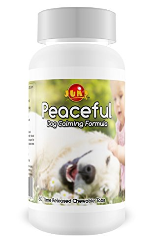 0738283600807 - PEACEFUL DOG CALM FORMULA RELIEVES HYPER NERVOUS BEHAVIOR. REDUCE STRESS OF TRAVEL, GROOMING, VETS, THUNDERSTORMS. EASES AGGRESSION-EXCESSIVE BARKING - TIME RELEASED- PEANUT BUTTER-60 TABLETS