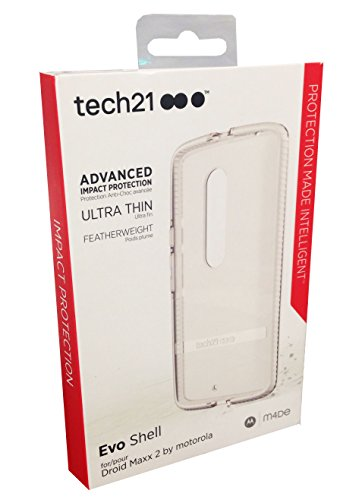 0738516458717 - TECH 21 EVO SHELL FOR MOTOROLA DROID TURBO 2 CLEAR IN RETAIL PACKAGE