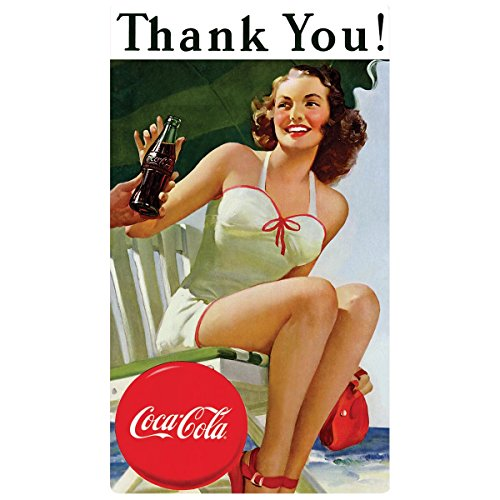 0739149020517 - DRINK COCA COLA COKE THANK YOU BEAUTY TIN SIGN 10 X 17IN