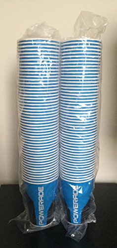 0739532679551 - POWERADE PAPER CUPS, 9 OZ SIDELINE CUPS, BLUE, (PACK OF 100)
