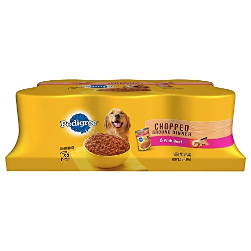 0740023331339 - PEDIGREE WET FOODS TRADITIONAL 6 COUNT GROUND DINNER CHOPPED BEEF FOR PETS