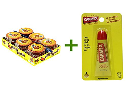 0741685244791 - DON PEPE OLLITAS SANDIA 6/3.17OZ, (6 PACK), CARMEX MOISTURIZING LIP BALM TUBES 1CT BUNDLE