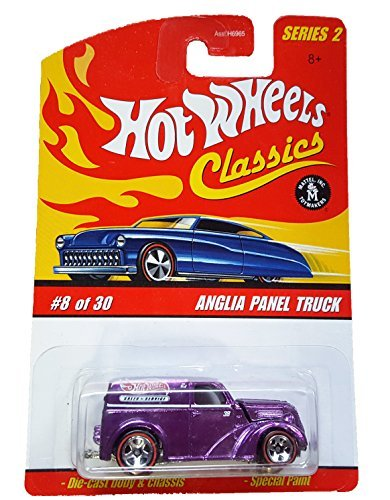 0742359452832 - HOT WHEELS CLASSICS SERIES 2 8/30 ANGLIA PANEL TRUCK PURPLE WITH RED LINE TIRES 1:64 SCALE BY HOT WHEELS