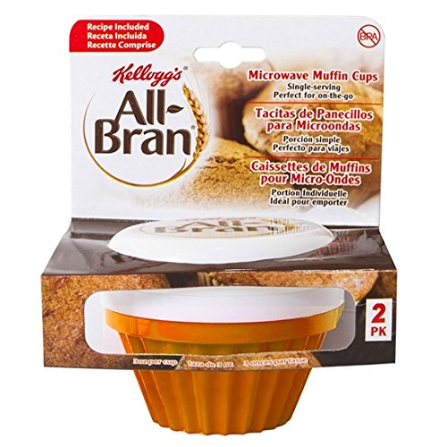 0742572306455 - KELLOGG'S ALL-BRAN MUFFIN MAKER - 2 PACK (ORANGE)