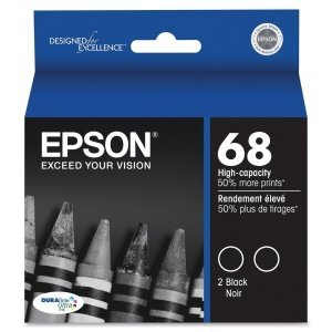 7426923342349 - 2 X EPSON T068120-D1 INK CART HI CAPACITY DUAL PACK-BLACK
