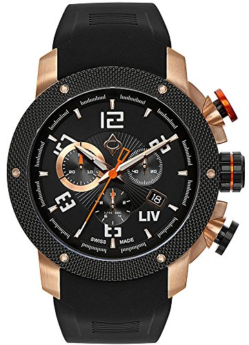 0744309249936 - LIV WATCHES GENESIS X1 MENS WATCH - ALL COLORS (ROSE GOLD)