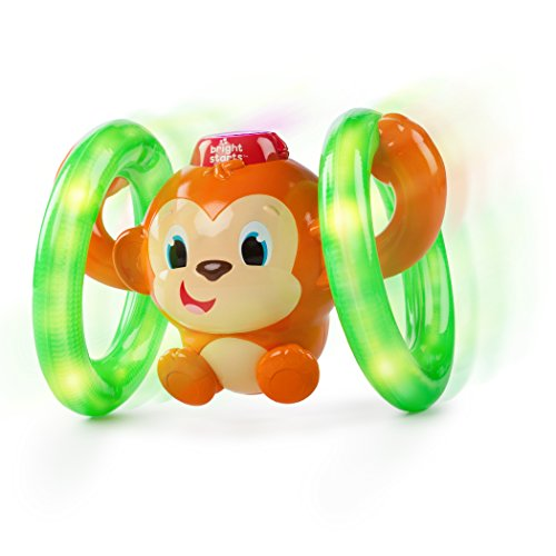 0074451521810 - BRIGHT STARTS BABY LIGHT ROLL AND GLOW MONKEY