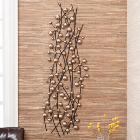 0744633895328 - UPTON HOME MODERN CHAMPAGNE METAL HOME WALL ART SCULPTURE (FOR DECOR)