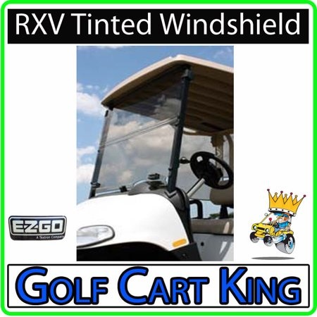 0746839687158 - EZGO RXV GOLF CART (TINTED) FOLDING IMPACT MODIFIED WINDSHIELD ~ FLIPS DOWN