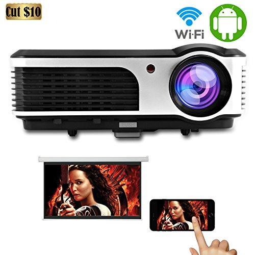 Caiwei Digital Led Projector Home Theater Beamer Lcd: CAIWEI WIRELESS HOME THEATER CINEMA PROJECTOR LED LCD