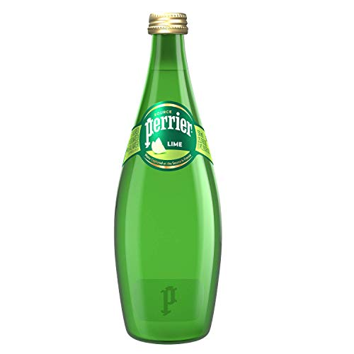 0074780004664 - PERRIER LIME FLAVORED CARBONATED MINERAL WATER, 25.3 FL OZ. GLASS BOTTLE (6 PACK), 25.3 FL OZ (PACK OF 6)