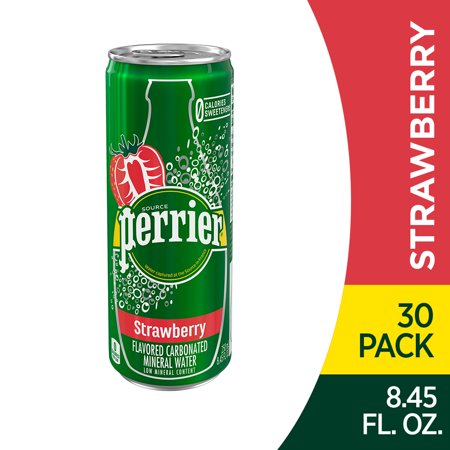0074780447041 - PERRIER STRAWBERRY FLAVORED CARBONATED MINERAL WATER, 8.45 FL OZ. SLIM CANS (30 COUNT)