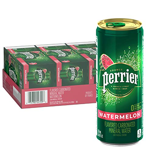 0074780447096 - PERRIER WATERMELON FLAVORED CARBONATED MINERAL WATER, 8.45 FL OZ. SLIM CANS (30 COUNT)