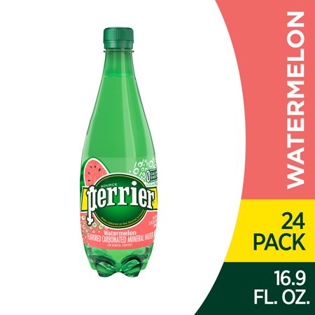 0074780447195 - PERRIER WATERMELON FLAVORED CARBONATED MINERAL WATER, 16.9 FL OZ. PLASTIC BOTTLES (24 COUNT)