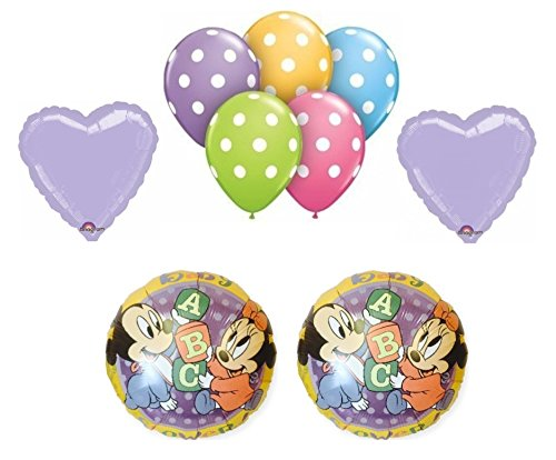 0748077809682 - MICKEY AND MINNIE BABY SHOWER BALLOON BOUQUET