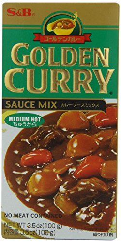 0074880030013 - S&B GOLDEN CURRY MIX MEDIUM HOT BOXES