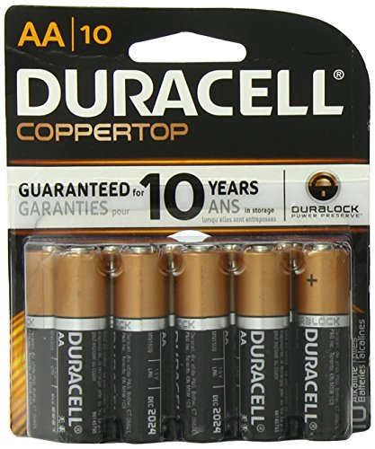 0749123101507 - DURACELL COPPERTOP AA BATTERIES 10 COUNT