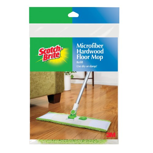 0074994353909 - SCOTCH-BRITE MICROFIBER HARDWOOD FLOOR MOP REFILL M-005-R, 1-COUNT