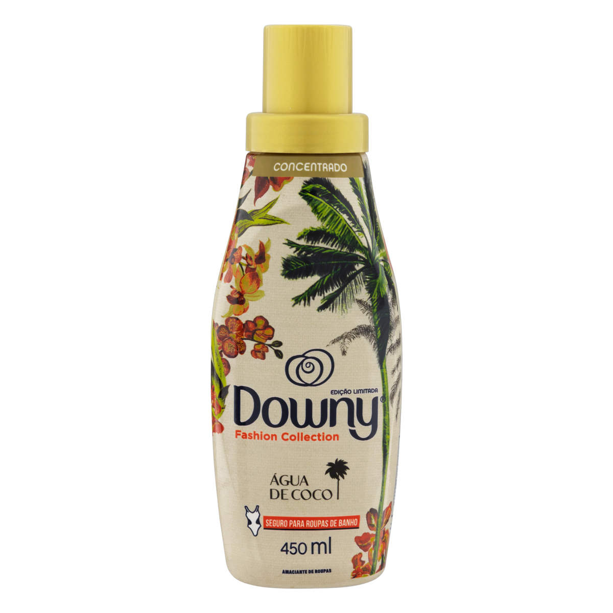 7500435160803 - AMACIANTE DE ROUPA CONCENTRADO ÁGUA DE COCO DOWNY FASHION COLLECTION FRASCO 450ML