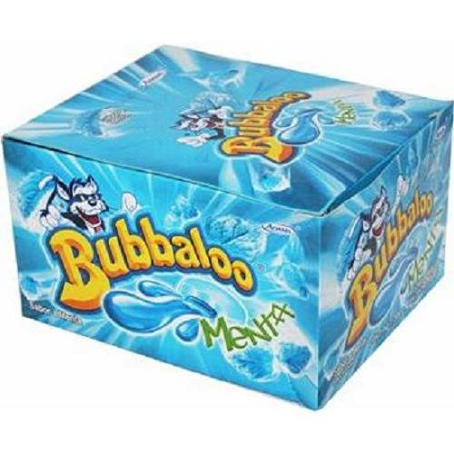 7501056912840 - BUBBALOO CHEWING GUM MENTA (MENTHOL) ( 58 IN A PACK )