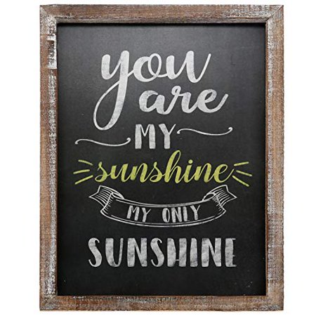 """0750325932493 - BARNYARD DESIGNS YOU ARE MY SUNSHINE WALL ART WOOD CHALKBOARD SIGN RUSTIC VINTAGE PRIMITIVE COUNTRY HOME DECOR 15.75"""" X 11.75"""""""