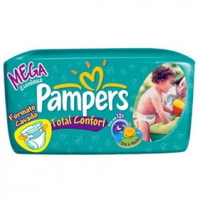 7506195197417 - FRALDA PAMPERS TOTAL CONFORT MEGA XG C/ 3 8