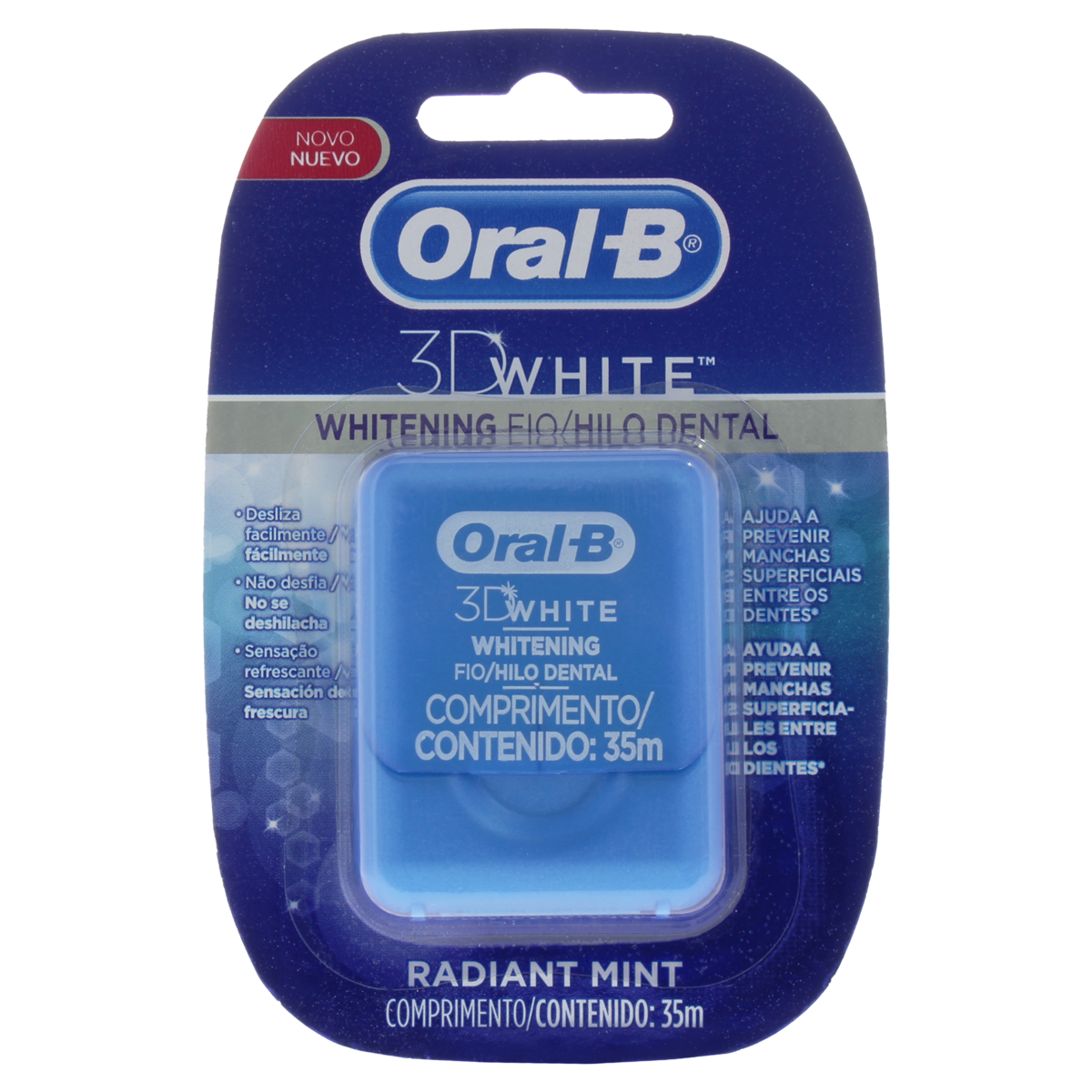 7506309855615 - FIO DENTAL RADIANT MINT ORAL-B 3D WHITE WHITENING 35M