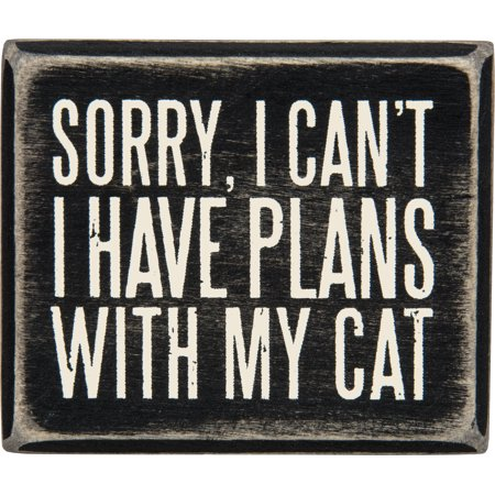 0755899882885 - PLANS WITH MY CAT WOOD BOX SIGN