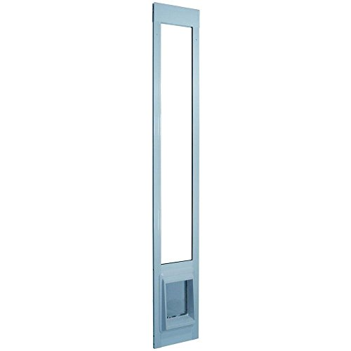 0757104191829 - IDEAL PET 7 IN. X 9 IN. SMALL ELECTRIC CAT FLAP WHITE ALUMINUM PET PATIO DOOR FITS 77.6 IN. TO 80.4 IN. STANDARD ALUM SLIDER
