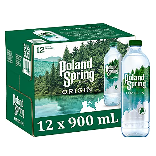 0075720100019 - POLAND SPRING ORIGIN, 100% NATURAL SPRING WATER, 900ML RECYCLED PLASTIC BOTTLE, 12-PACK