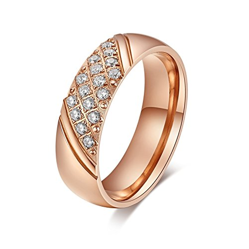 Mealguet jewelry cheap stainless steel comfort fit engagement mealguet jewelry couples 18k goldrose gold plated engagement wedding ring band in stainless steel for women junglespirit Choice Image