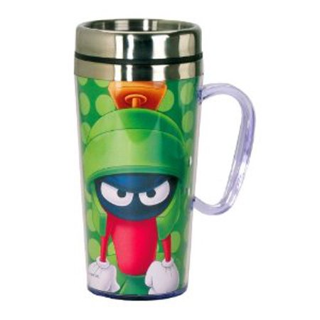 0758606434803 - LOONEY TUNES MARVIN THE MARTIAN INSULATED TRAVEL MUG, GREEN