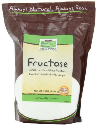 0760488350157 - NOW FOODS, FRUCTOSE FRUIT SUGAR 3 LB (PACK OF 2)