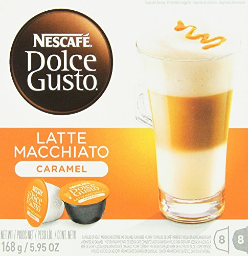 "7613033024306 - ""NESCAFE DOLCE GUSTO FOR NESCAFE DOLCE GUSTO BREWERS, CARAMEL LATTE MACCHIATO, 16 COUNT, (PACK OF 3) (8 COUNT OF ACTUAL SERVINGS)"
